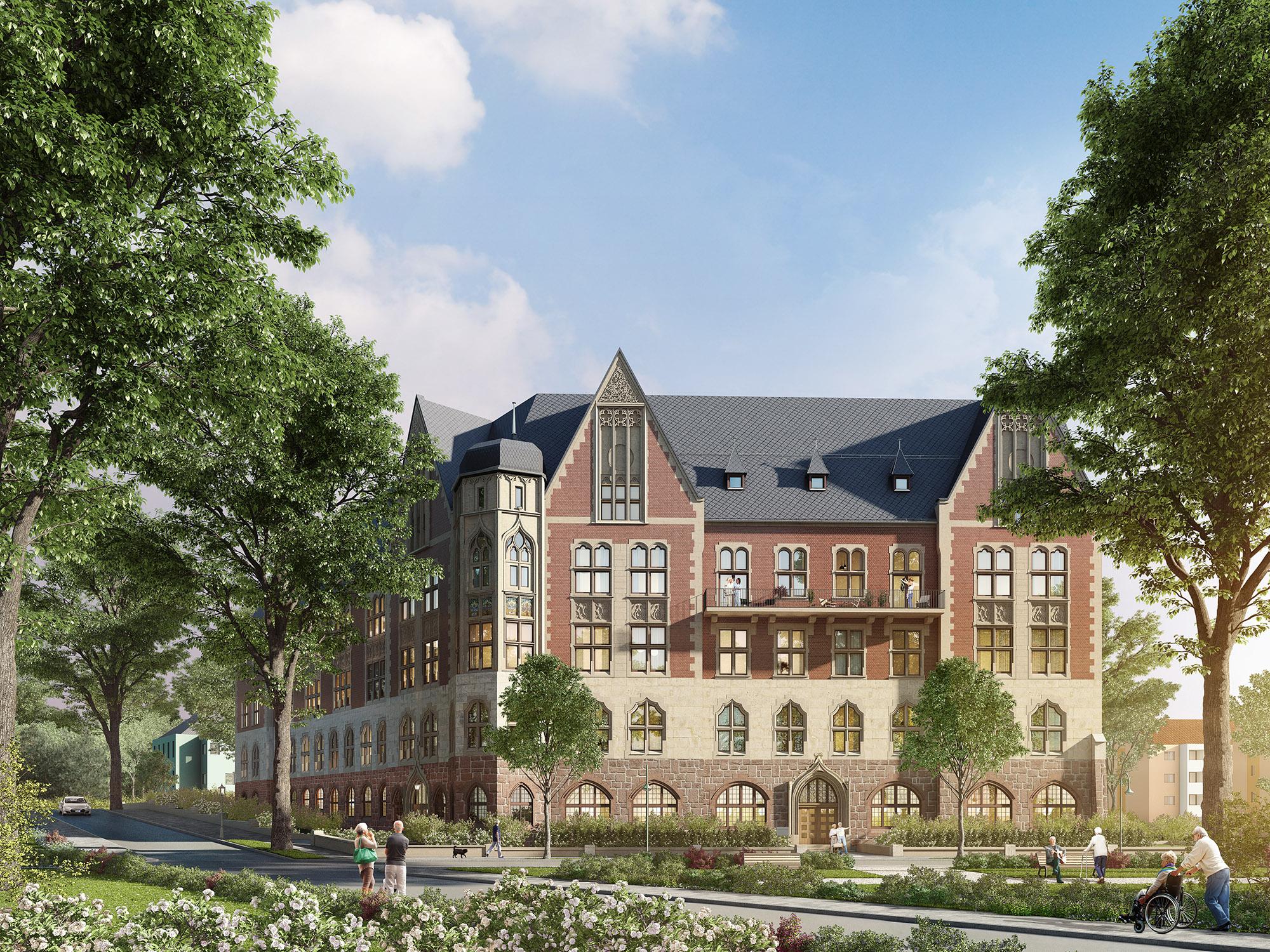 mojoimages architekturvisualisierung Advita Altenwohnen Immobilie Postamt Chemnitz 2017