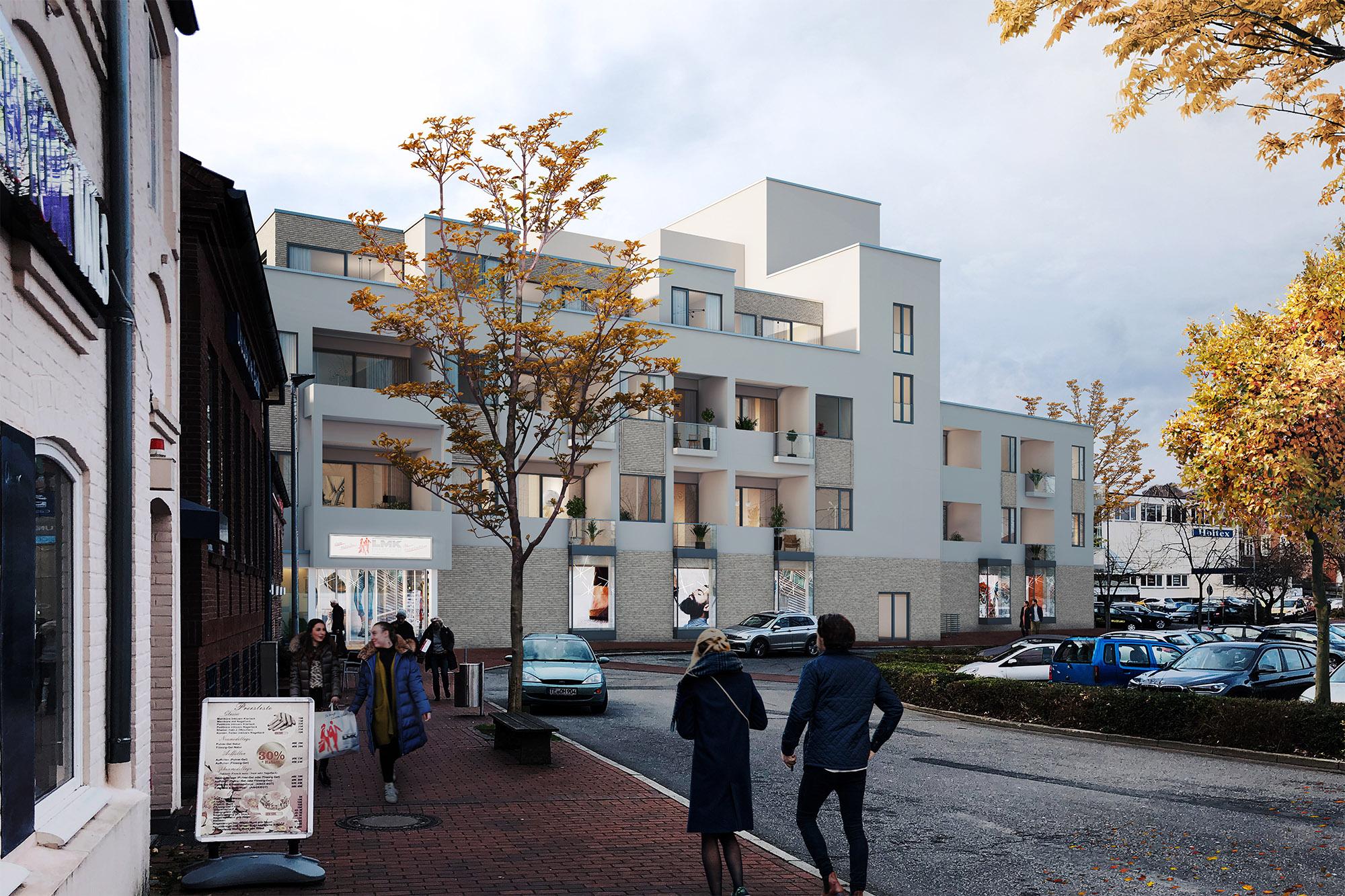 mojoimages architekturvisualisierung Architekturbuero Minde Vermarktung Kaufhaus Eutin 2017