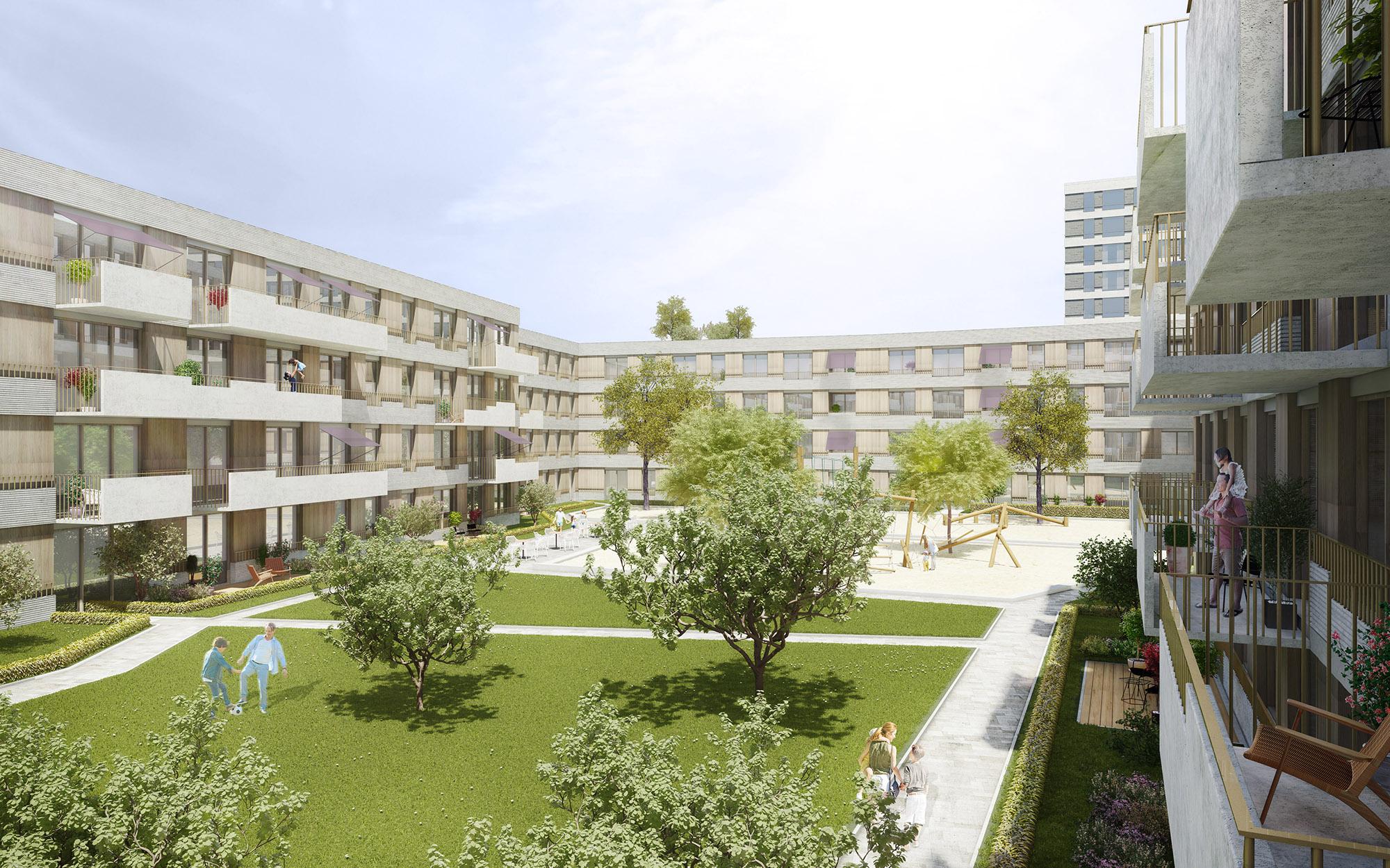 mojoimages architekturvisualisierung Baum Kappler Areal München Unterschleissheim 2019