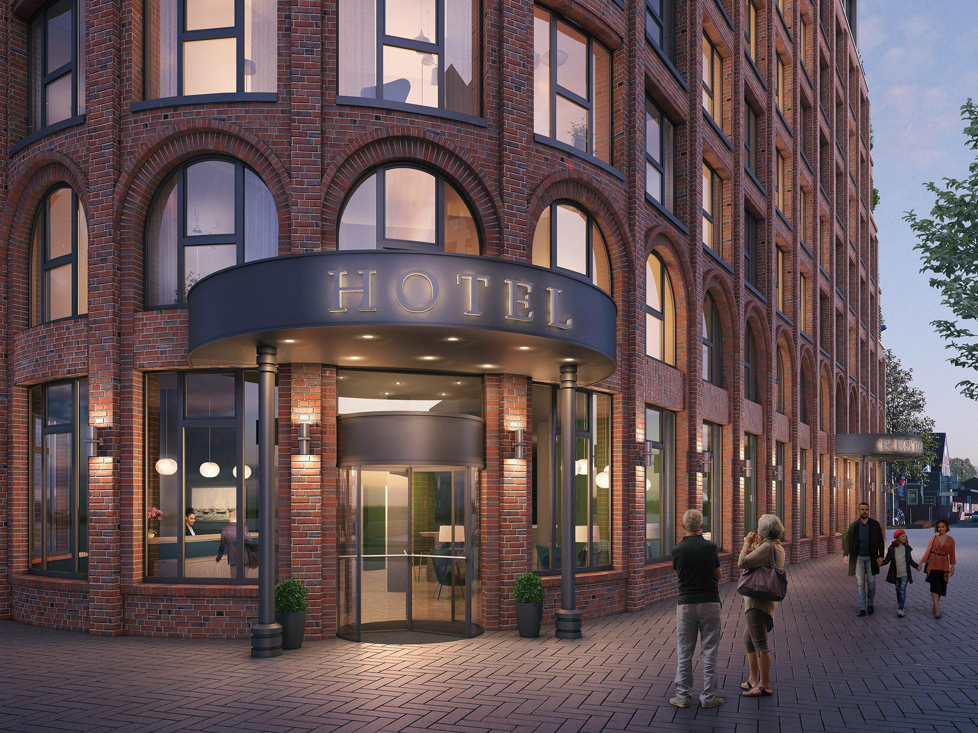 mojoimages architekturvisualisierung Eden Architekten Hotel Lobby Dock Leer 2019
