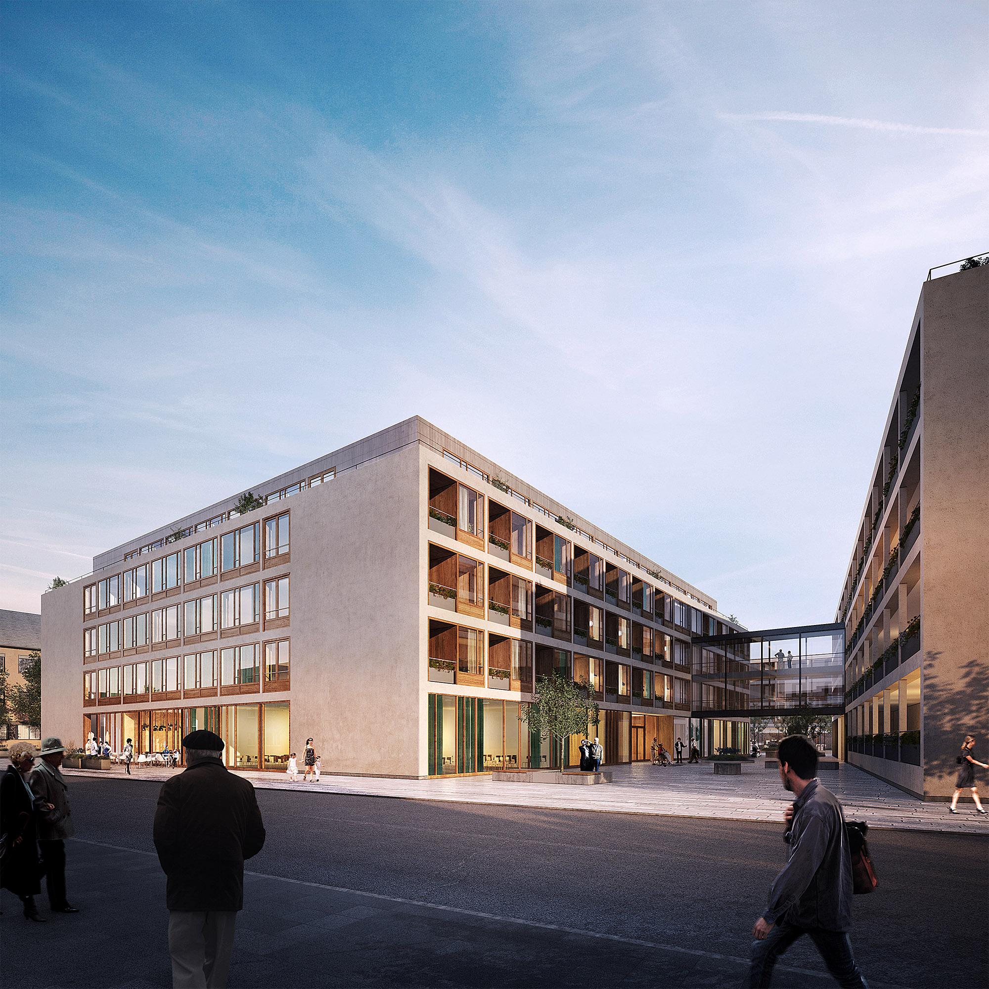 mojoimages architekturvisualisierung Ingoschrader Architekten Altenwohnen Wettbewerb Schweiz 2016