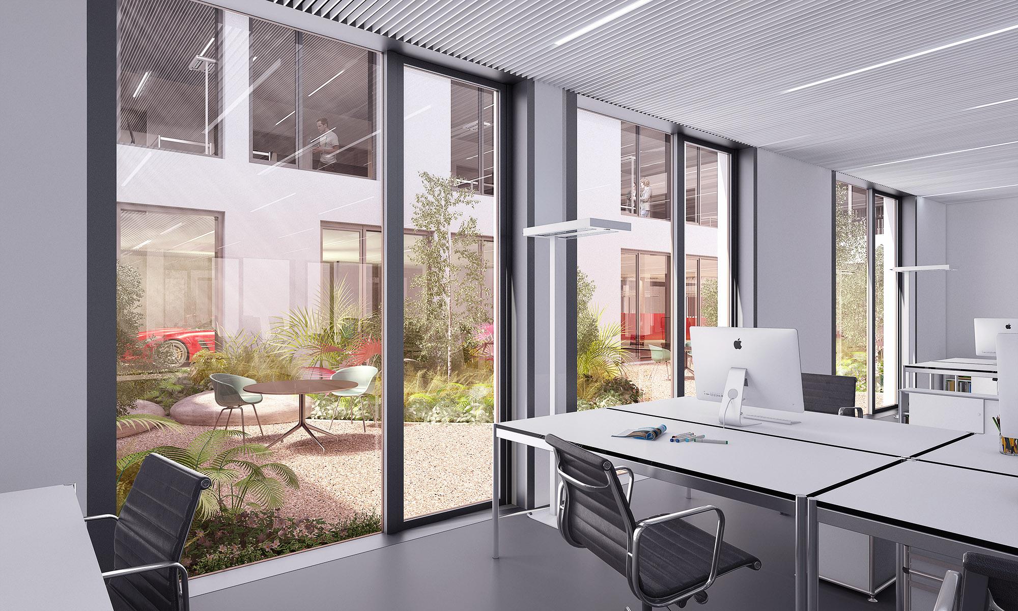 mojoimages architekturvisualisierung Kadawittfeldarchitektur Vermietung WSU Salzburg 2017