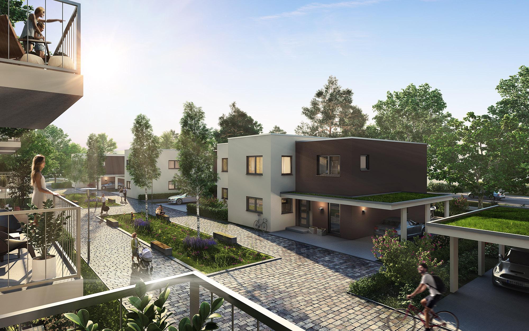 mojoimages architekturvisualisierung NORDHAUS Marketing Wohngebiet Bielefeld