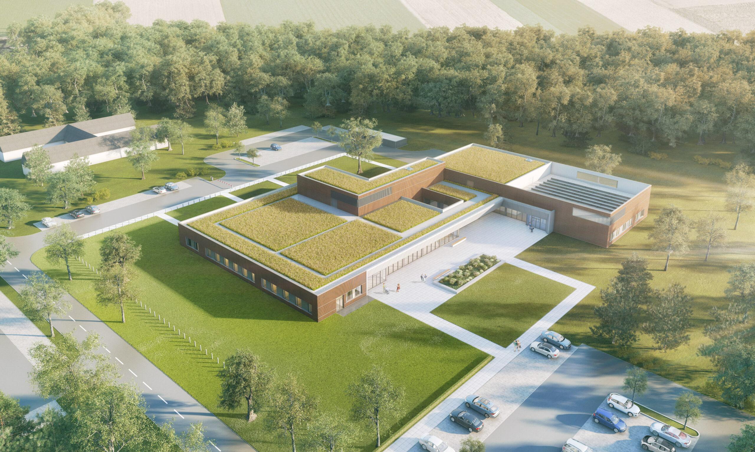 mojoimages architekturvisualisierung klinik geilenkirchen vogelperspektive